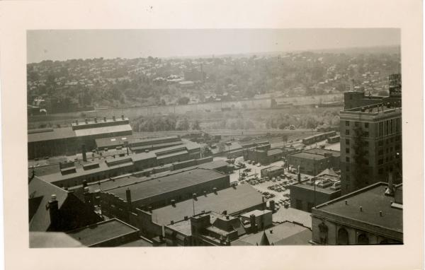 Youngstown - West Front Street aerial view