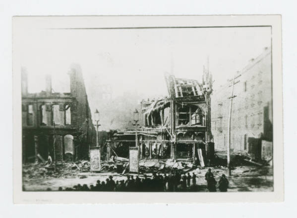 Henrietta Theater, Chittenden Hotel and Auditorium and Park Theater after 1893 fire