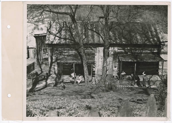 Appalachian farmhouse and family photograph