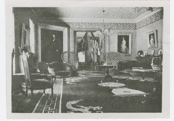 Interior of Hayes home