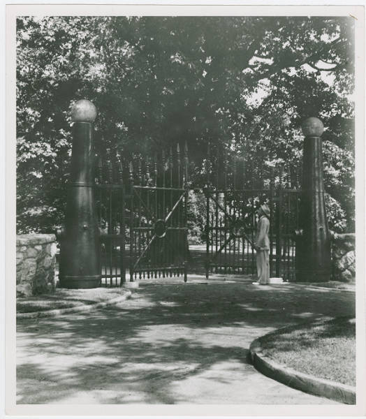 Gate to President Hayes Estate in Fremont Ohio