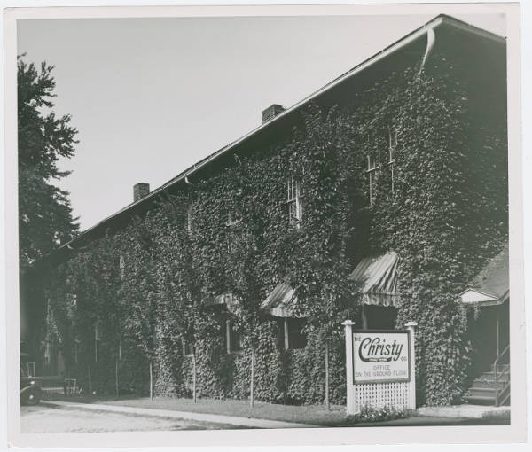 Ivy covered factory building in Fremont, Ohio