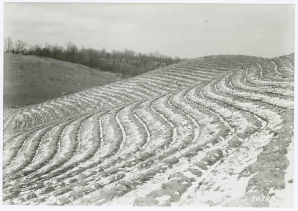 Contour plowing in Butler County Ohio