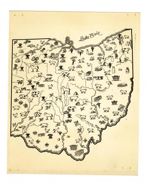 Agricultural map of the State of Ohio