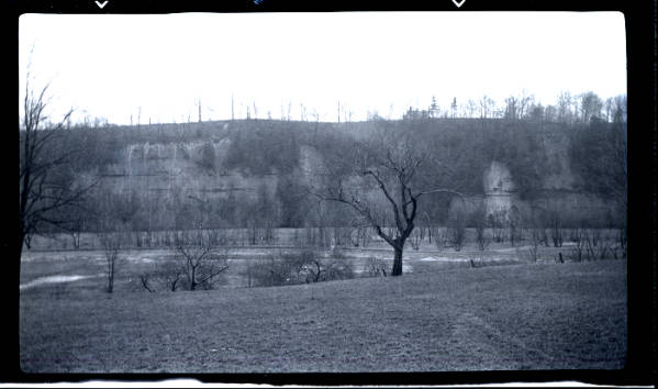 Grand River palisades in winter
