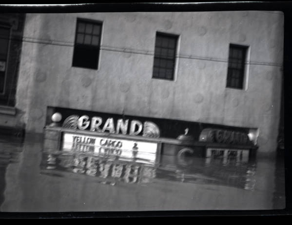 Grand movie house during 1937 Ohio River flood