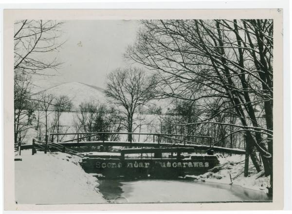 Winter canal scene in Tuscarawas County, Ohio