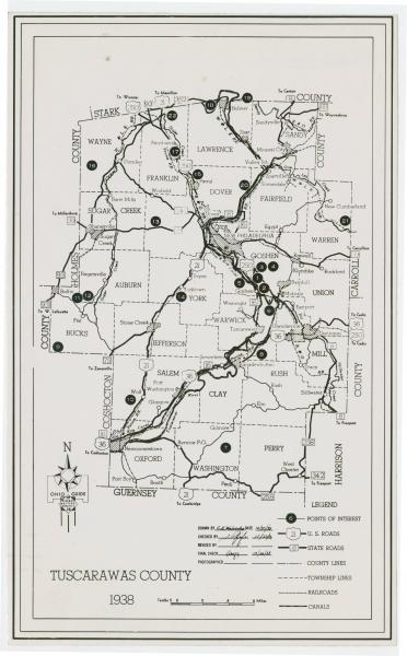 Tuscarawas County map