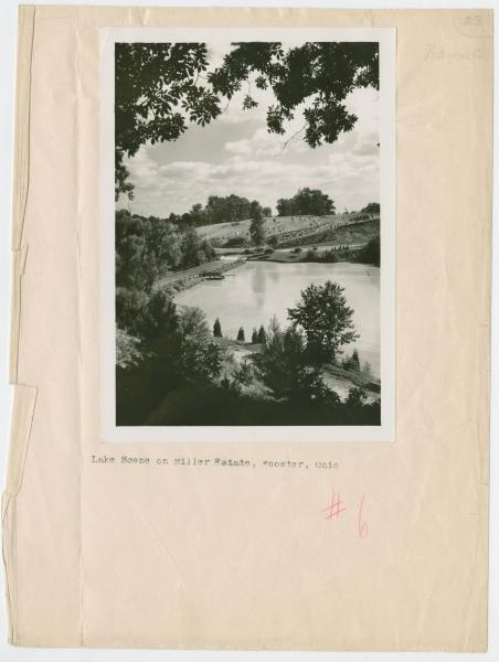 Lake Scene on Miller Estate in Wooster, Ohio