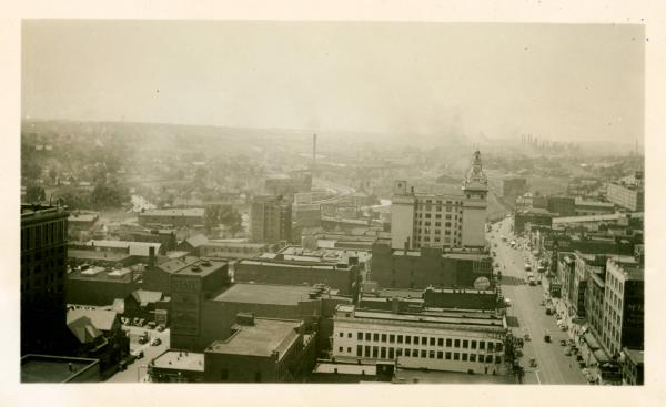 Aerial view of Federal Plaza West in Youngstown, Ohio