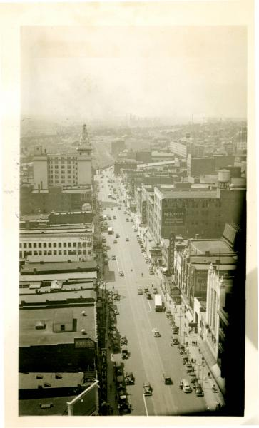 Aerial view of downtown Youngstown, Ohio
