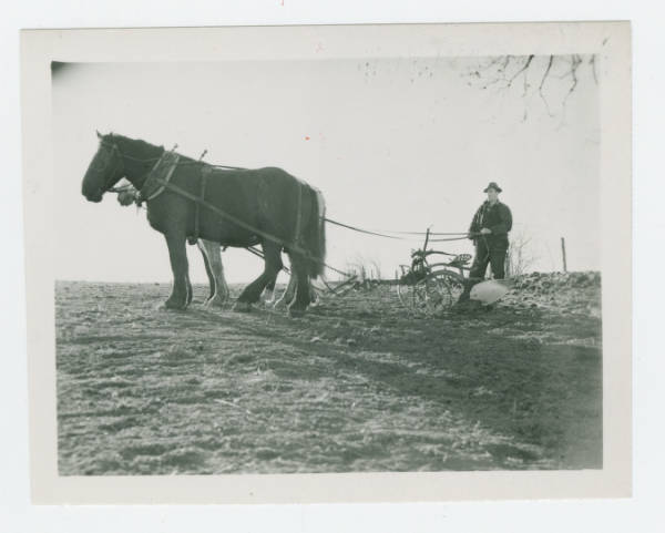 Plowing the fields in Ross County, Ohio